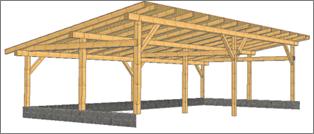 Střechy 92 - vizualizace stání
