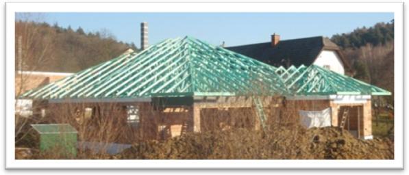 Kombinace valbových střech