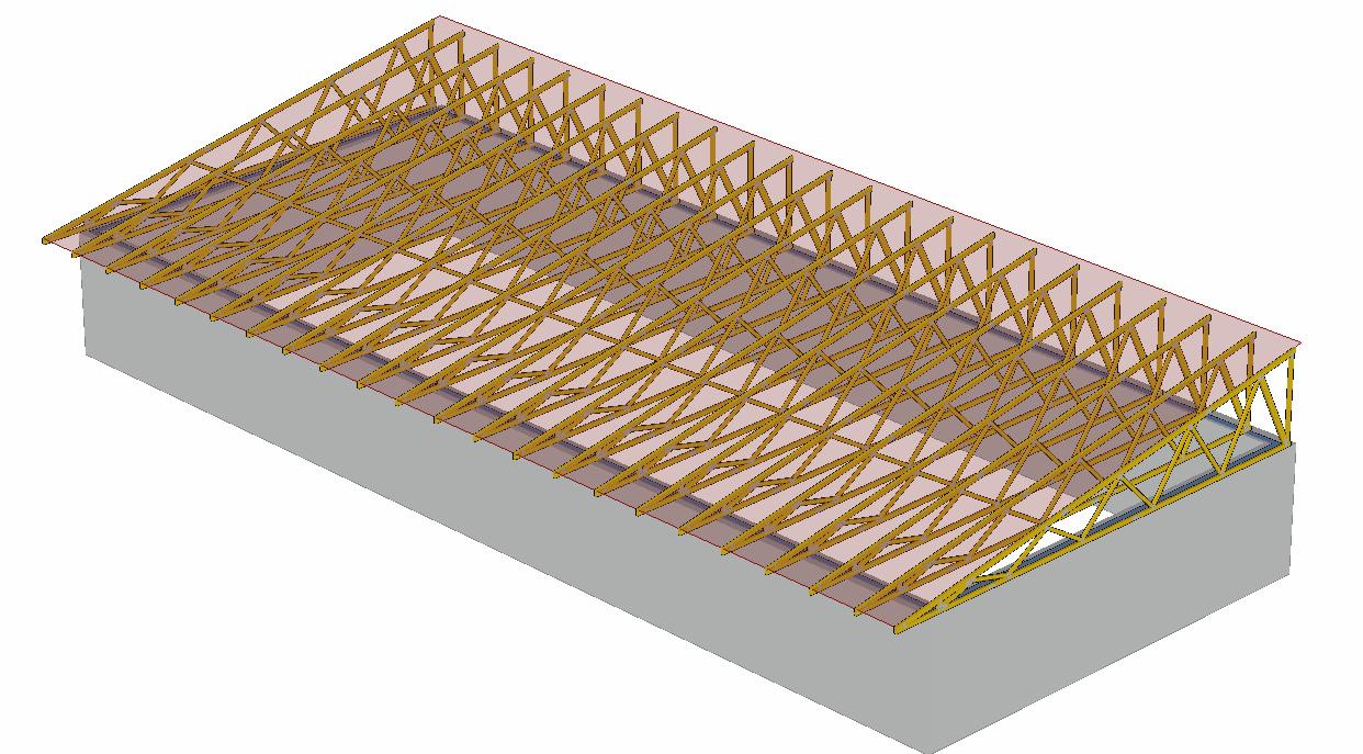 Pultová střecha model