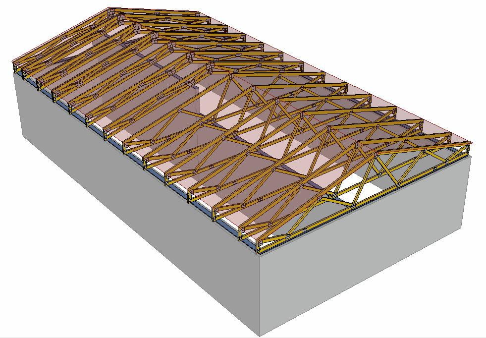 Sedlová střecha model
