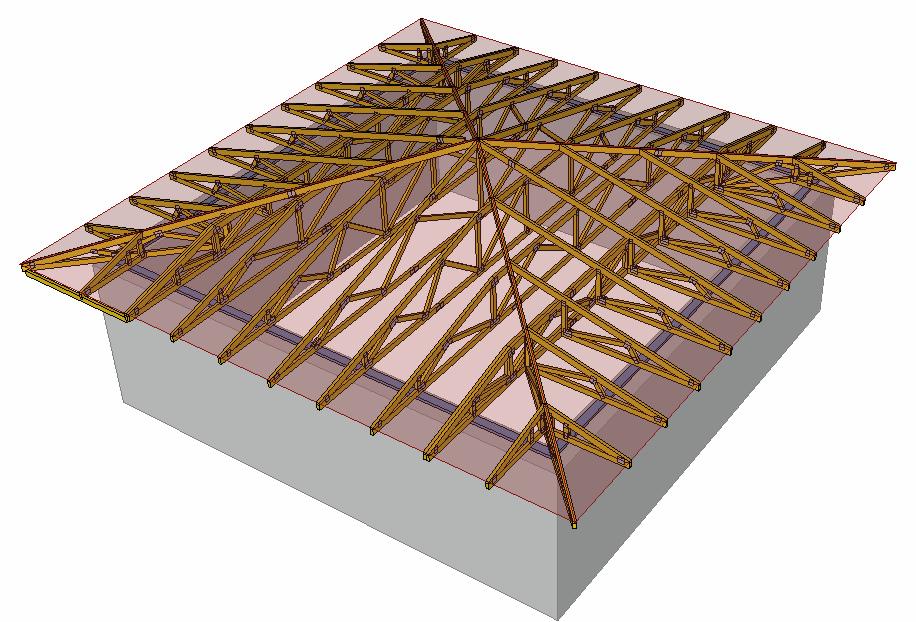 Stanová střecha model
