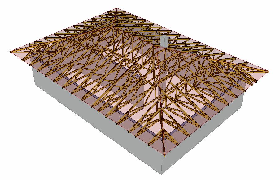 Valbová střecha model