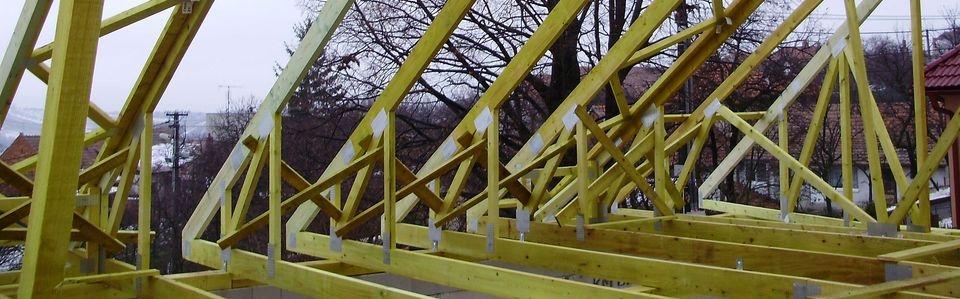 Dřevěná konstrukce střechy